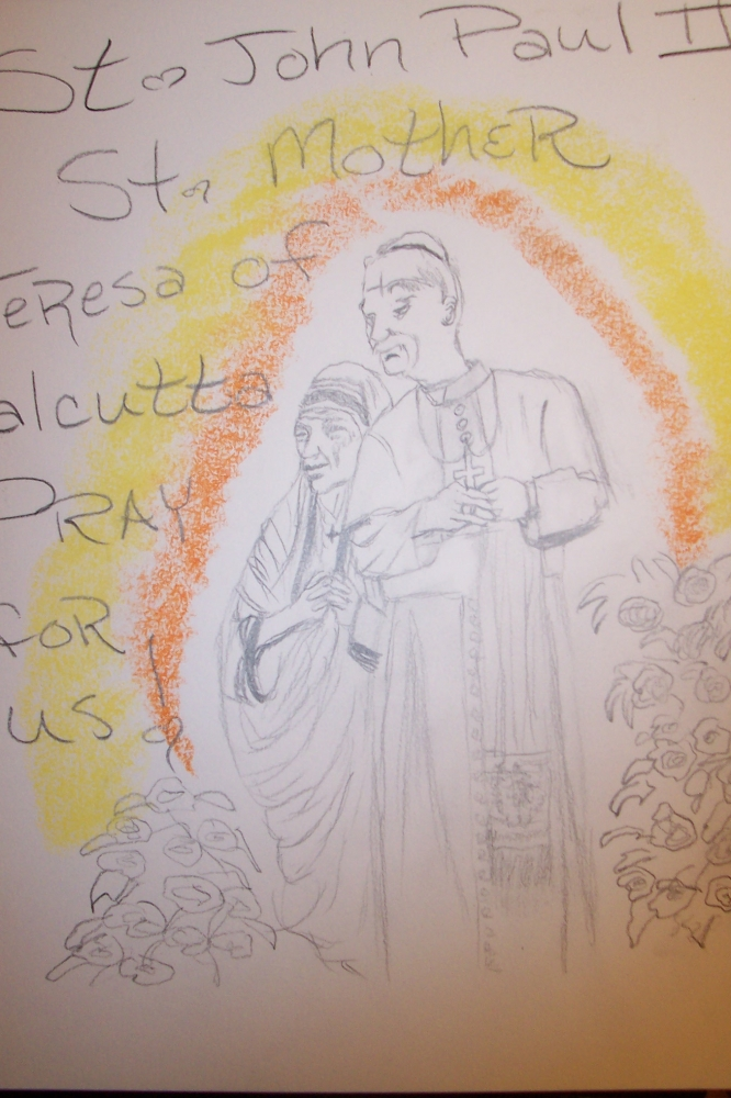 Mother Teresa, John Paul II by cindykron